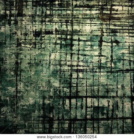 Vintage texture or antique background with grunge decorative elements and different color patterns: gray; green; blue; black; cyan