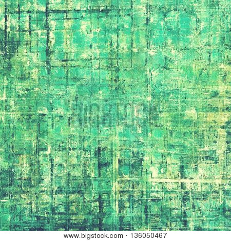 Retro style background with grungy vintage texture and different color patterns: yellow (beige); gray; green; blue; cyan