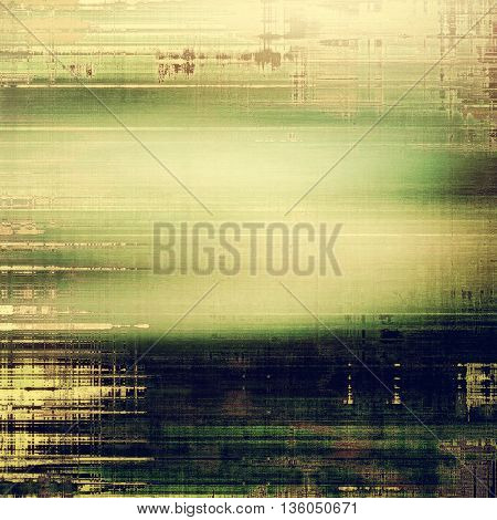Old school background or texture with vintage style grunge elements and different color patterns: yellow (beige); brown; gray; green; black