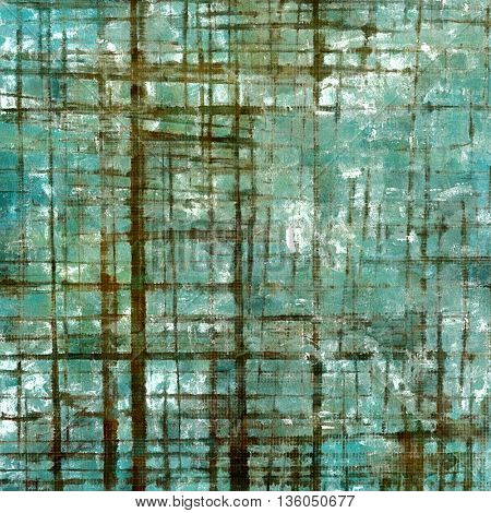 Distressed grunge texture, damaged vintage background with different color patterns: brown; gray; green; blue; cyan; white
