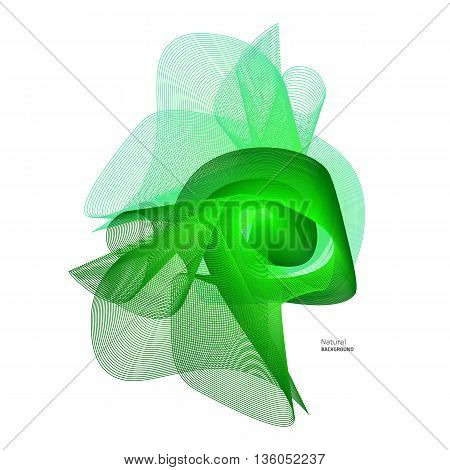 Colorful abstract texture. Vector air design. Green abstract flower. Vector grid texture. Summer green background.