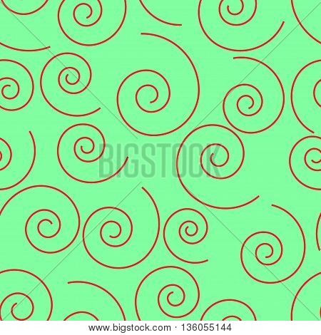 Spiral geometric seamless pattern. Fashion graphic background design. Modern stylish abstract texture. Color template for prints textiles wrapping wallpaper website etc. VECTOR illustration