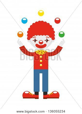 juggler clown with balls  isolated icon design, vector illustration  graphic