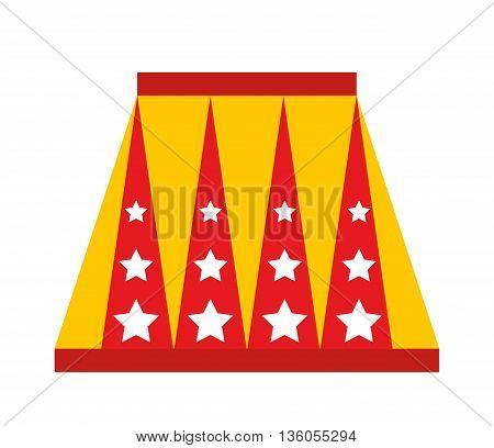 animal circus podium isolated icon design, vector illustration  graphic