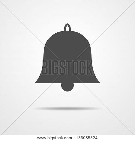 Simple bell icon - vector illustration. Gray flat bell sign for your design.
