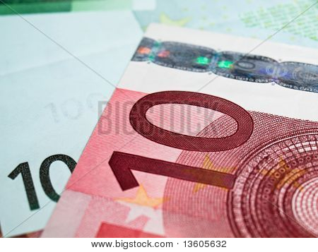 Ten Euros Money