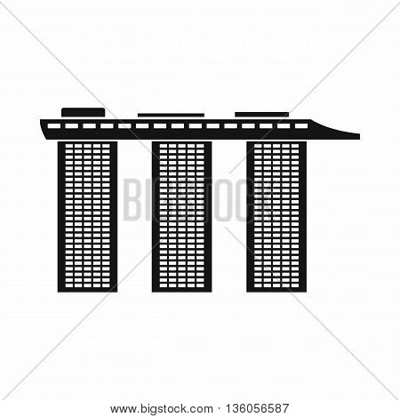 Marina Bay Sands Hotel, Singapore icon in simple style isolated on white background
