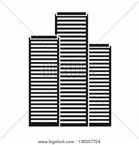Skyscrapers in Singapore icon in simple style isolated on white background