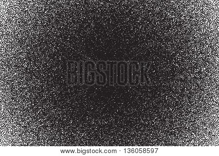 Vector dotted texture. Abstract dotwork engraving stippling background