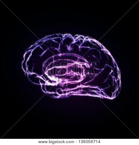 Brain Background with brain