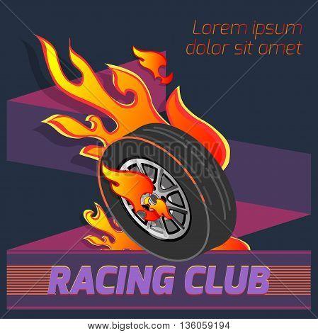 wheel fire emblem isometric signs sports club