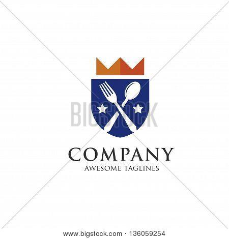 Gourmet logo. king food. Lovely food logo . templateTemplate logo for restaurant