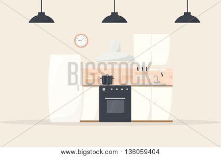 cartoon kitchen interior
