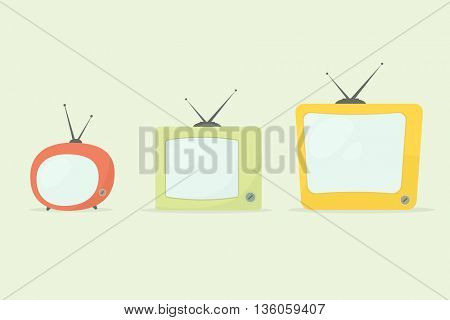 cartoon retro tv set