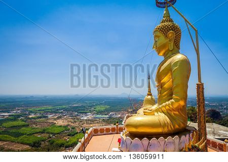 Buddha in Tiger Cave Temple in Thailand