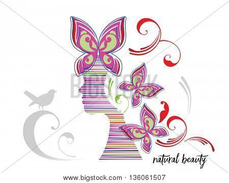 natural beauty woman abstract