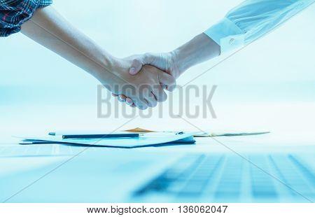 Business Documents On Office Table With Laptop Computer,document Business Diagram And Officer Workin