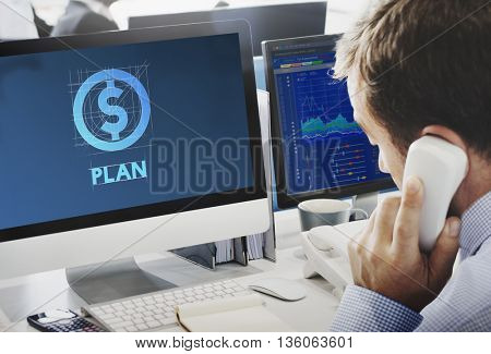 Plan Money Finance Business People Technology Graphic Concept
