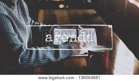 Agenda Plan Planning Event Order Concept
