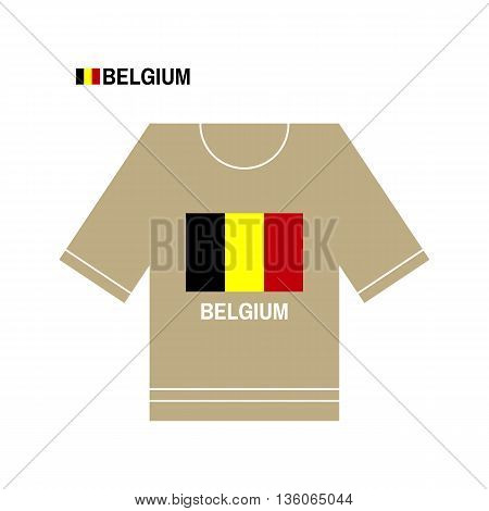 Vector Belgian t-shirt symbol. Belgium National sport team isolated on white. European Championship.