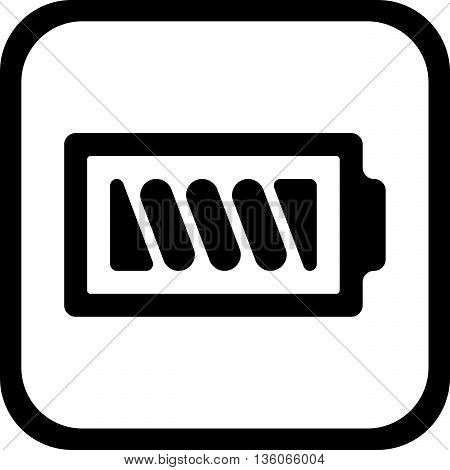 Symbol battery black and white icon - vector, flat design. Eps 10