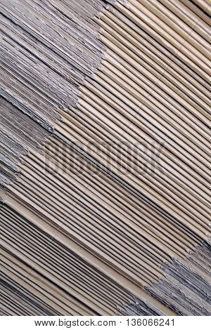 Cardboard workpieces in stack. Close -up photo