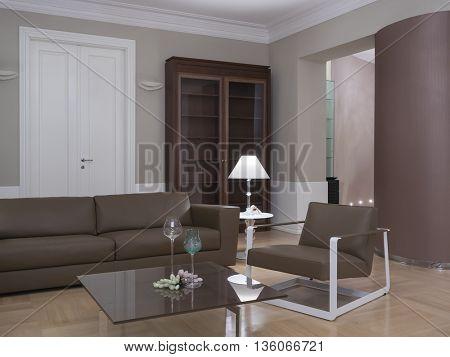 Classic interior design living room