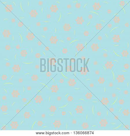 Blue floral pattern vintage background in pastel tones