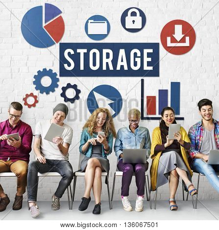 Storage Cloud Network Space Concept
