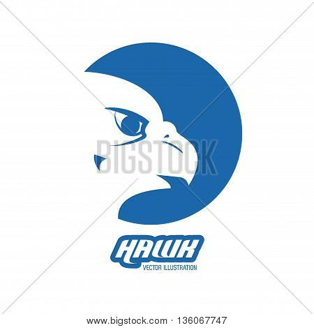 Animal  concept represented by Haluk icon over circle. blue graphic. Isolated and flat illustration