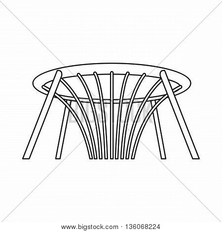 Fountain of Wealth in Singapore icon in outline style isolated on white background