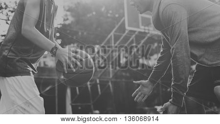 Basketball Player Athlete Exercise Sport Stadium Concept