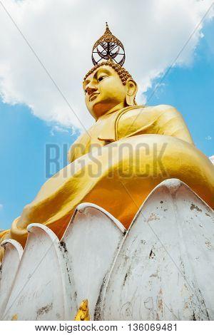 Big Image Of Buddha. Tiger Cave Temple. Krabi Thailand.