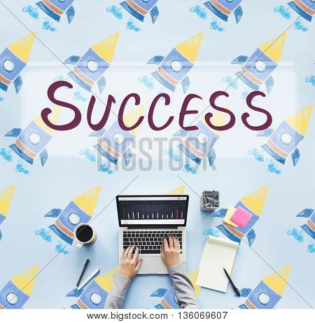 Success Achievement Improvement Mission Concept