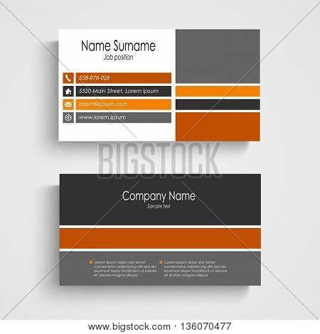 Business card with colored design stripes template vector eps 10
