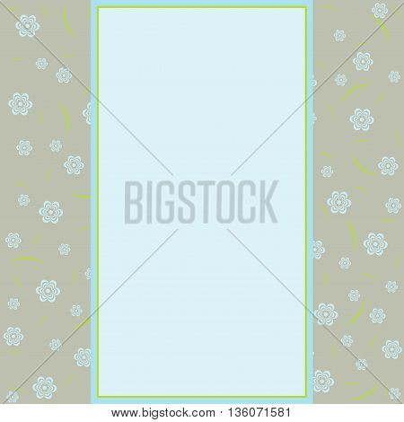 Vector birthday and greeting card. Floral oriental decor.