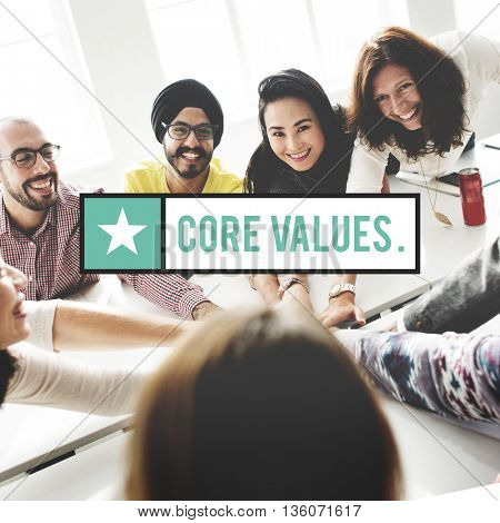 Core Values Important Business Education Concept