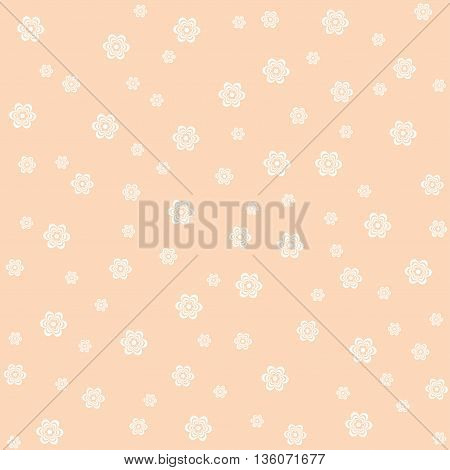Pink flower pattern. Vector illustration in pastel tones