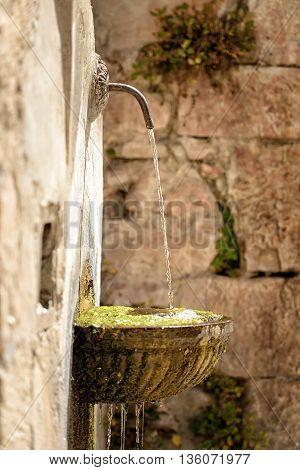 Fountain In Visso Italy