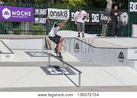 Gustavo Ribeiro During The Dc Skate Challenge