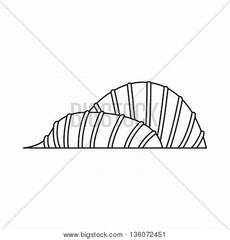 Cloud Forest and Flower Dome at Gardens by the Bay icon in outline style isolated on white background