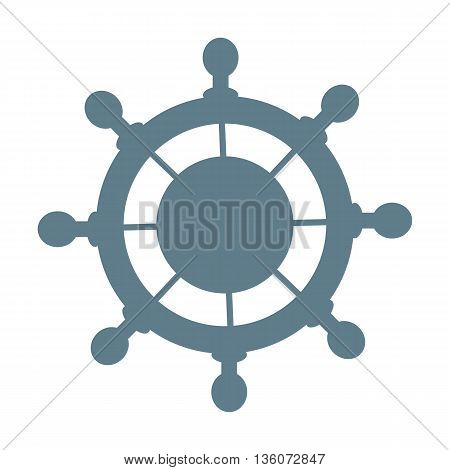 Stylized icon of a colored steering wheel on a white background