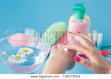 Making Her Skin Clean And Smooth.