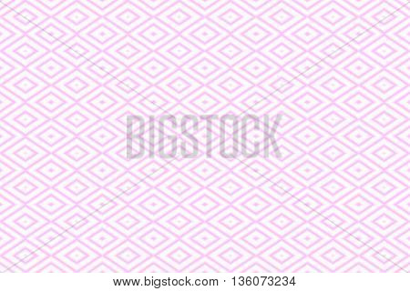 Illustration of repetitive pink and white rhombuses