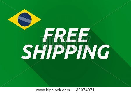 Long Shadow Brazil Flag With    The Text Free Shipping