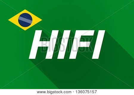 Long Shadow Brazil Flag With    The Text Hifi