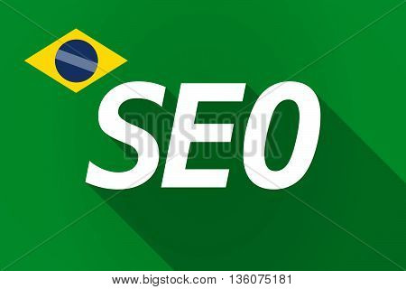 Long Shadow Brazil Flag With    The Text Seo
