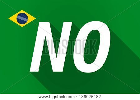 Long Shadow Brazil Flag With    The Text No