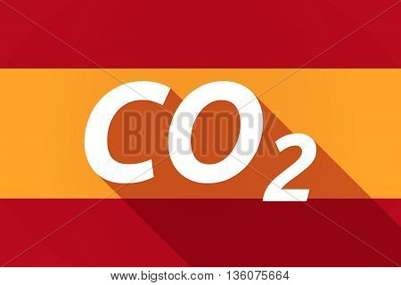 Long Shadow Spain Flag With    The Text Co2