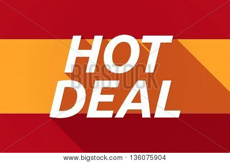 Long Shadow Spain Flag With    The Text Hot Deal